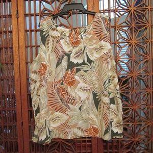 Kaktus Plus print tunic with floral print